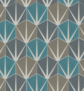 Lily Pad Marine Pattern Tile (Box of 12)