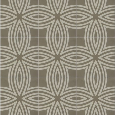 Wired Warm Grey Pattern Tile (Box of 12)