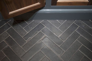 Nero Parquet Natural Limestone Tile Sample
