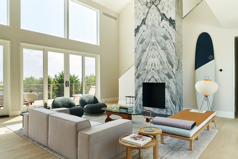 Polycor Gray Marble and Alberene soapstone fire hearth