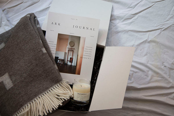 Holiday Boxes: Ark Journal | Vol. 4 + Palo Santo 14 + Iota Blanket