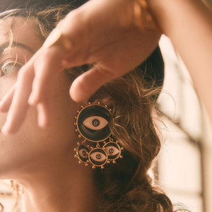 Sarayan Eye Earrings