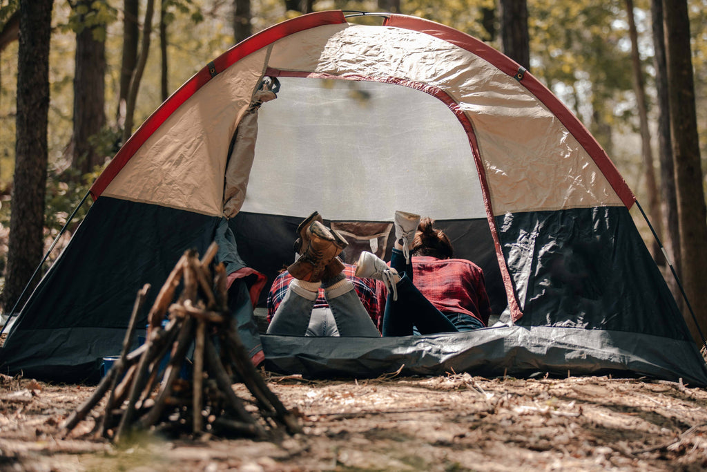 camping woods nature outdoors escape relax