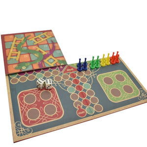 2 in 1 Snakes & Ladders & Ludo Game Set