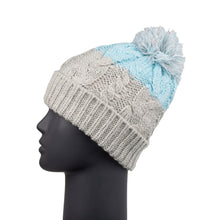 Load image into Gallery viewer, Bobble Hat Waterproof Grey/Blue