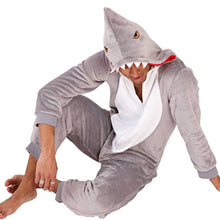Load image into Gallery viewer, Shark Jumpsuit Sleepwear