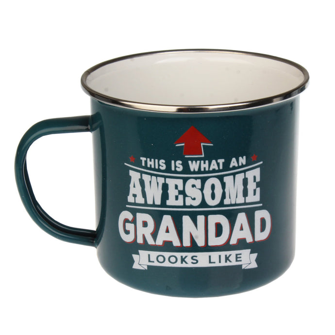Awesome Grandad Enamel Mug