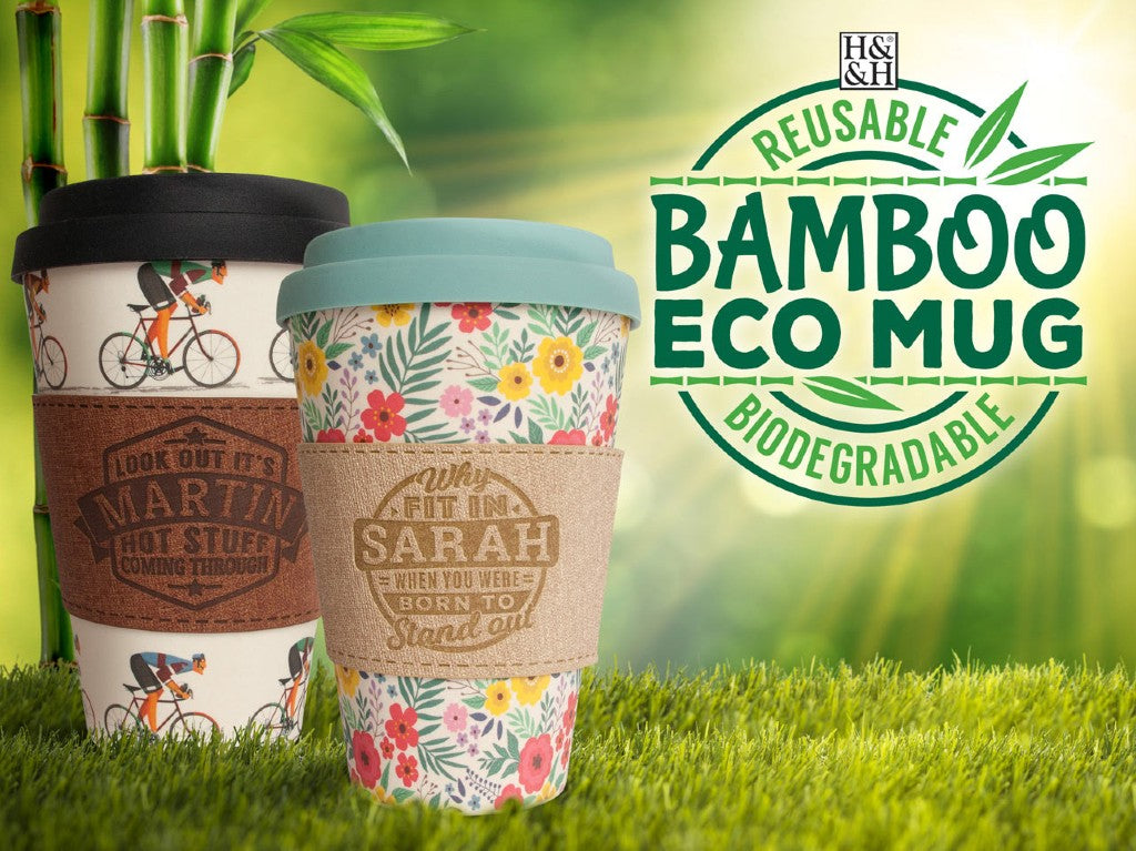 Bamboo Eco Cup Sleeves (Letters)
