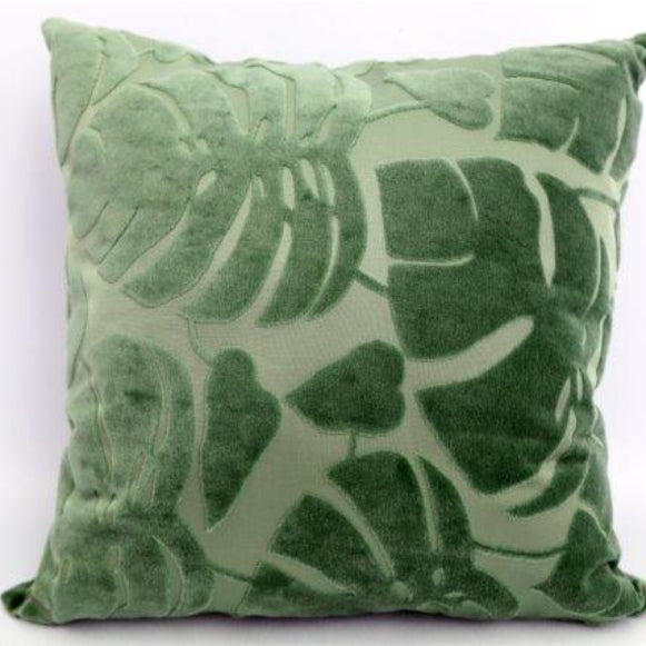 Moss Green Fern Cushion