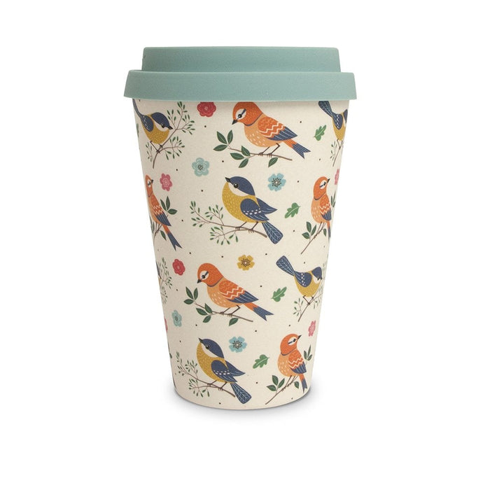 Birds Bamboo Travel Mug