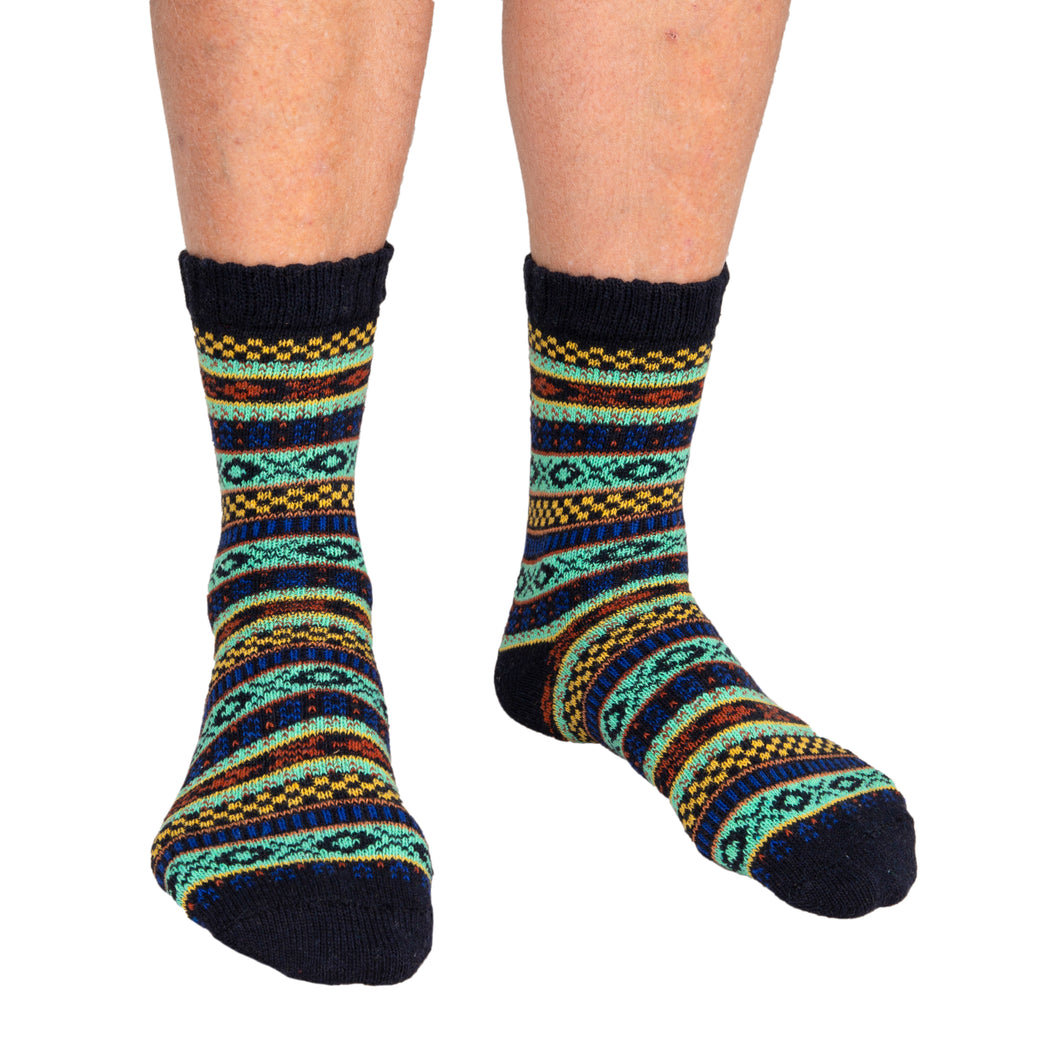 Men's Socks Patterned Black