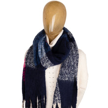 Load image into Gallery viewer, Blanket Scarf Block Colour Blue