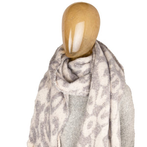 Blanket Scarf Animal Print Snow Leopard