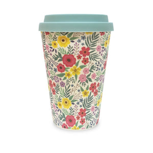 Flower Bamboo Travel Mug