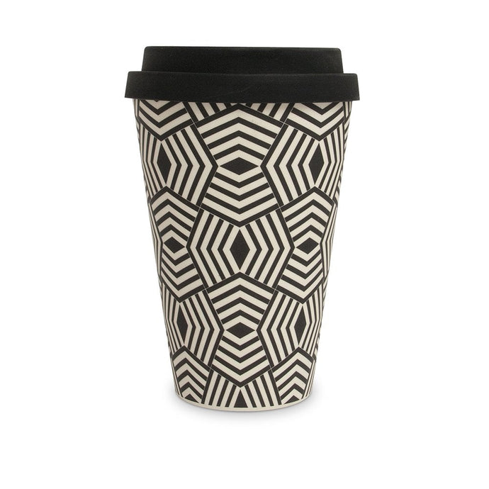 Geometric Bamboo Travel Mug