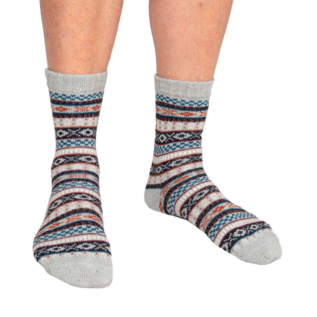 Men's Socks Grey Patterned