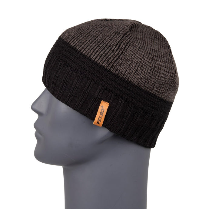 Men's Beanie Two Tone Black/Grey