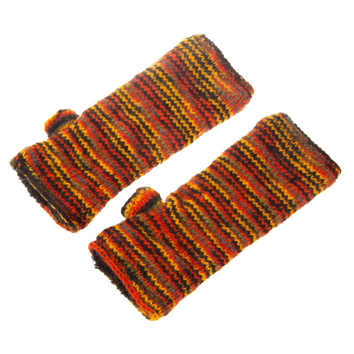 Himalayan Knitted Handwarmer Orange