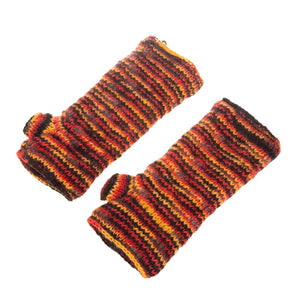 Himalayan Knitted Handwarmer Red
