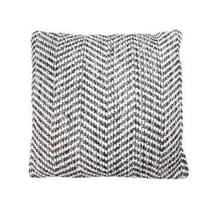 Herringbone Woven Black/Grey Cushion
