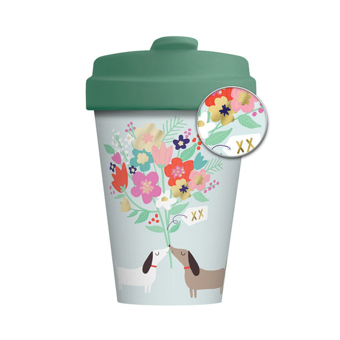 Lovely Doggies Bamboo Travel Mug