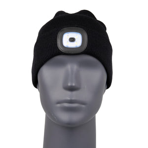 Beanie with USB LED Light