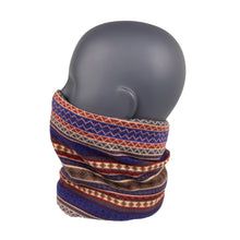 Load image into Gallery viewer, Neck Warmer Blue/Cream/Red South American