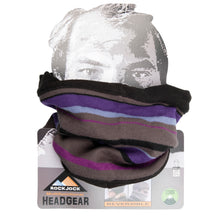 Load image into Gallery viewer, Neck Warmer Purple Stripe