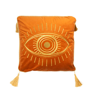 Burnt Orange Fantasy Eye Scatter Cushion