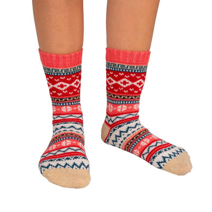 Women's  Socks Patterned Coral