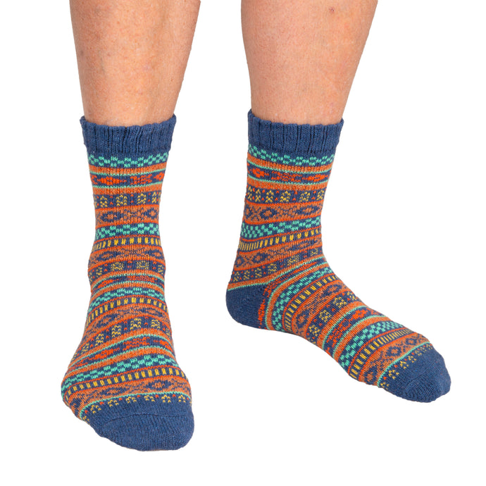 Men's Socks Patterned Blue