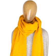 Load image into Gallery viewer, Blanket Scarf Plain Mustard Yellow