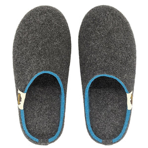 Gumbies Outback Slippers Charcoal and Turquoise
