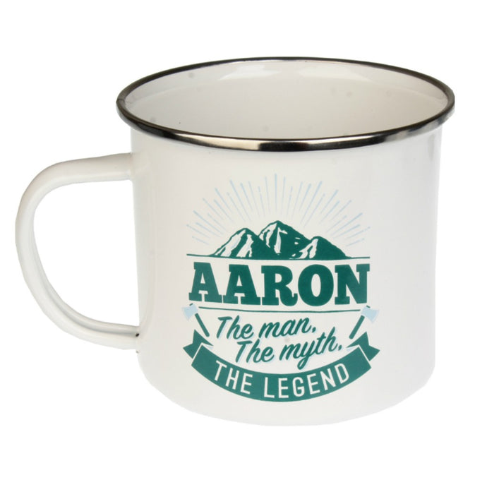 Personalised Men's Names Enamel Mugs