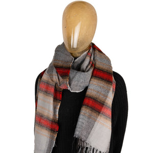 Blanket Scarf Stripe Red
