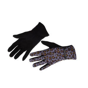 Women's Gloves Animal Print Snow Leopard
