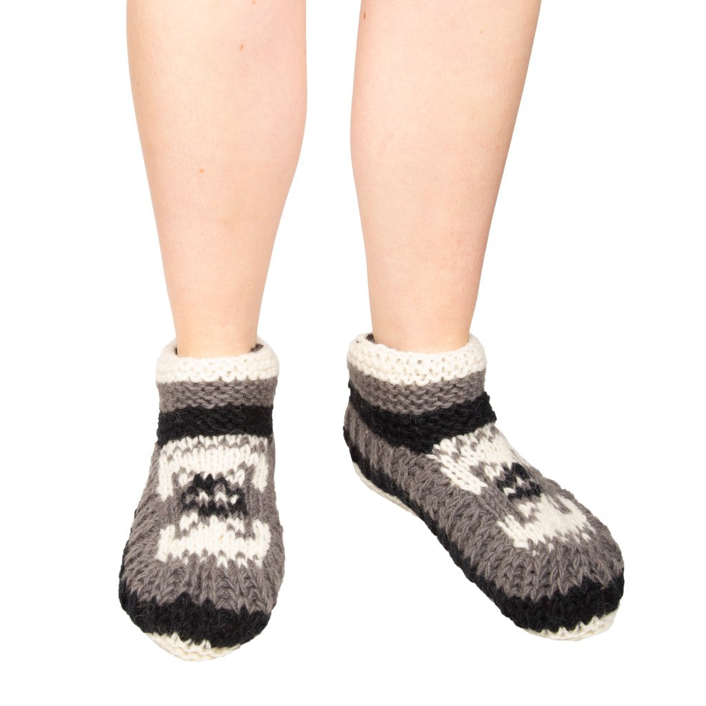 Himalayan Knitted Short Socks Black