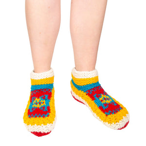 Himalayan Knitted Short Socks Yellow