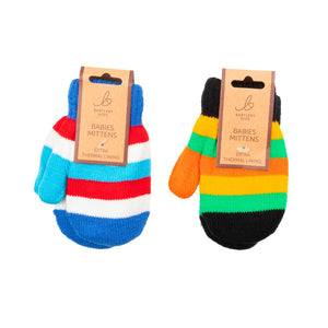 Baby Mittens Magic Stripe Black/Blue