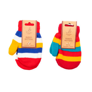 Baby Mittens Magic Stripe Red/Yellow