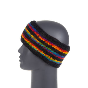 Himalayan Knitted Headband Rainbow