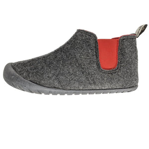 Gumbies Brumby Slipper Boots Charcoal and Red