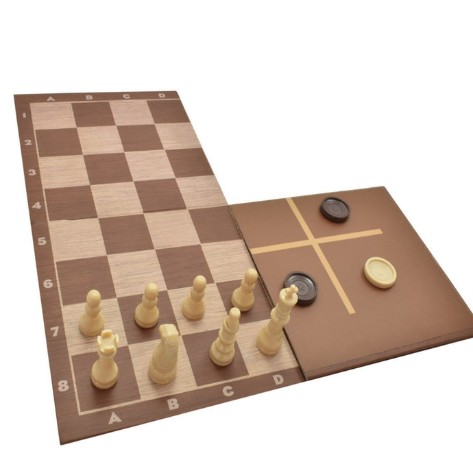 3 in 1 Chess/Draughts/Tic Tac Toe