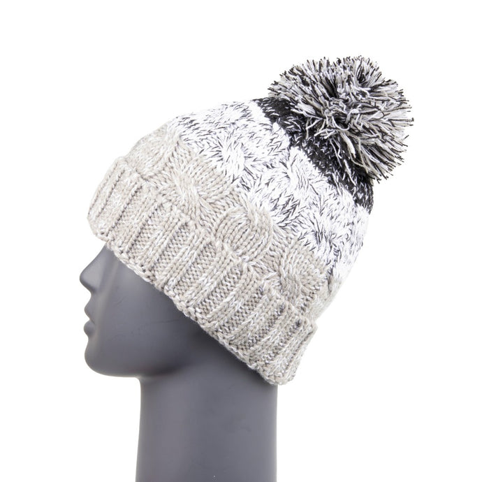 Bobble Hat Waterproof Grey/Black