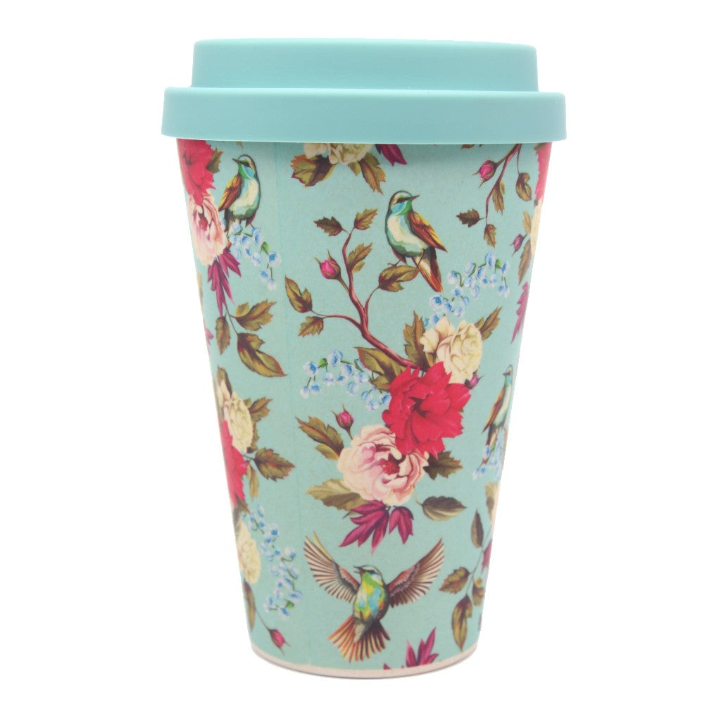 Bamboo Eco Cup Cottage Garden