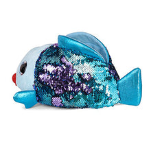 Load image into Gallery viewer, Purple/Turquoise Sequin Fish Slippers