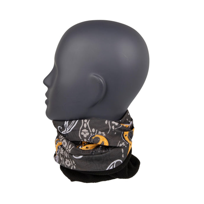 Neck Warmer Grey/Orange Paisley