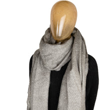 Load image into Gallery viewer, Scarf Textured Stripe Grey