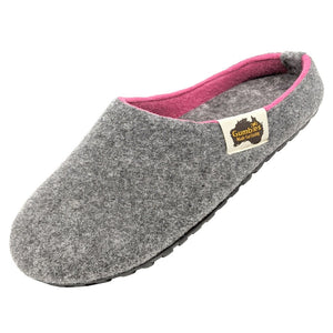 Gumbies Outback Slippers Grey and Pink