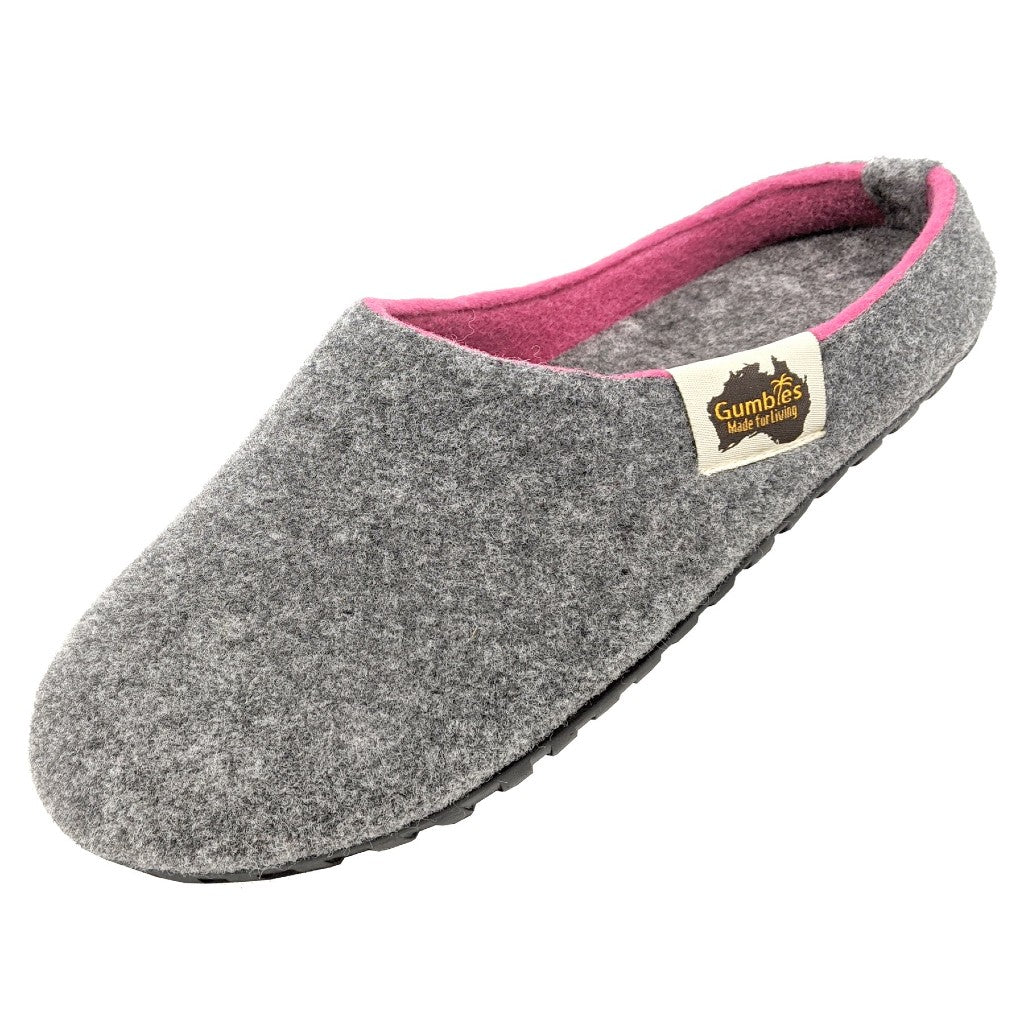 Gumbies Outback Slipper Grey and Pink